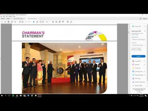 Belajar Membaca Annual Report Syarikat yang disenaraikan di Bursa Malaysia