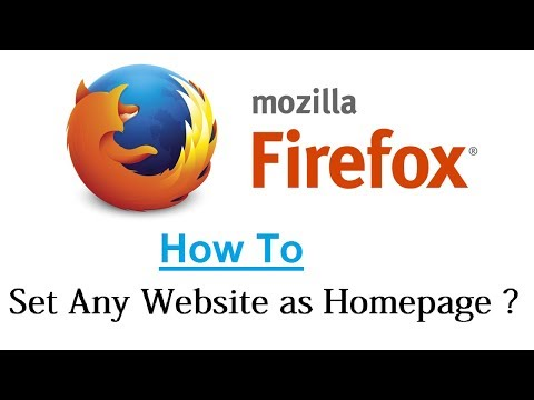 How to Set Any Website as Homepage || Mozilla Firefox