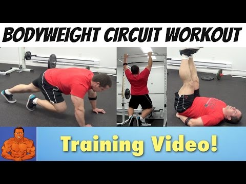 Bodyweight Circuit Routine for Building Muscle at Home