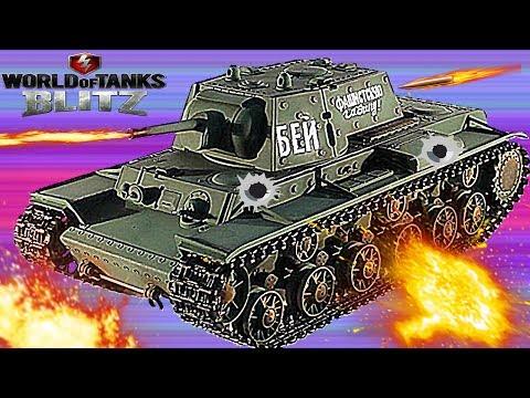 WORLD OF TANKS BLITZ#12 Танковая игра КВ-1 набираем опыт. Первые бои.Новое видео для детей