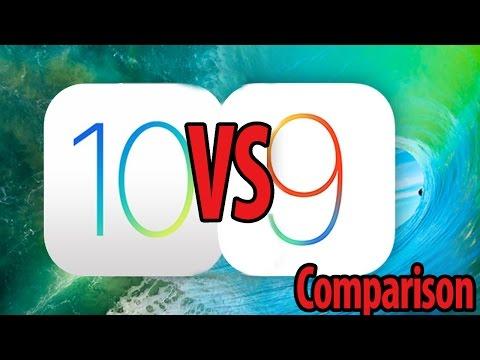 iOS 9 vs iOS 10