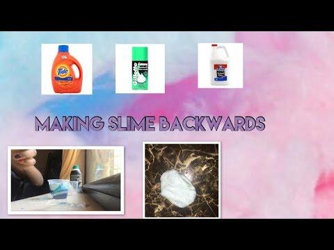 Making slime backwards !!😱~BeautybyDelores