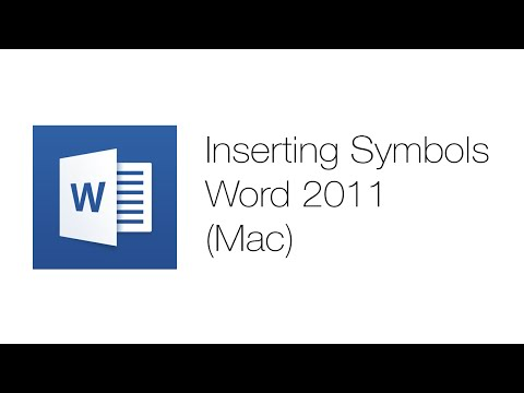 Office Tutorials - Using Symbols (Microsoft Word 2011)