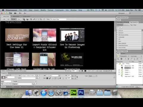 Create A Website Using Photoshop & Dreamweaver - Part 2