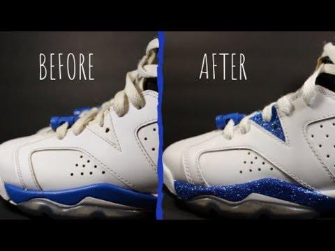 Glitter Jordan 6 Custom Jordans Custom Glitter Jordans Custom Shoes