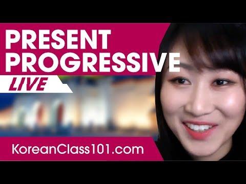 Present Progressive in Korean | Learn Korean Grammar