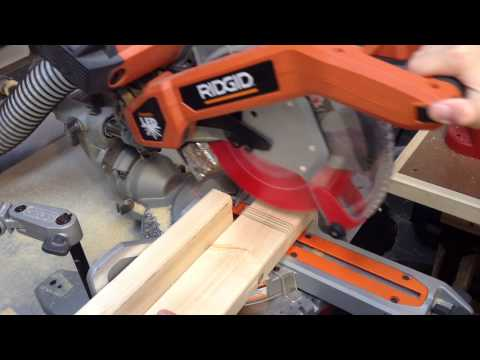 How to make half-laps on the sliding miter saw
