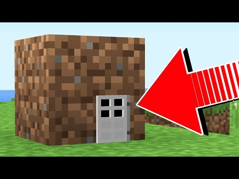 HOW TO LIVE INSIDE A DIRT BLOCK IN MINECRAFT!