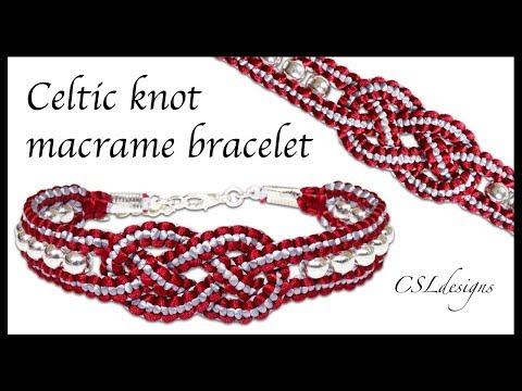 Celtic knot macrame bracelet
