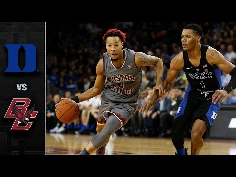 Duke vs. Boston College Basketball Highlights (2017-18)