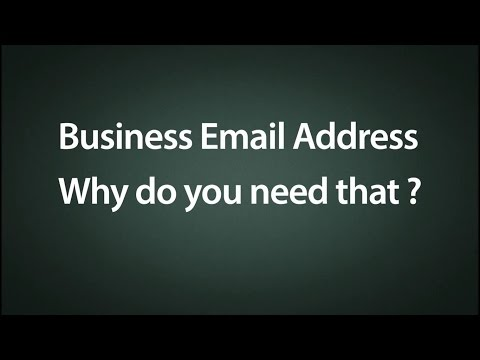 Business Email Address - Why Do You Need That?