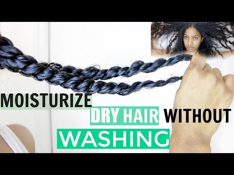 How to Moisturize Dry Natural Hair Without Wash Day or Deep Conditioning|Natural Hair