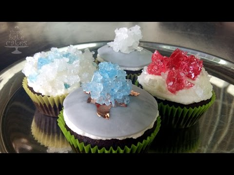CRYSTAL cupcakes - different ways to decorate