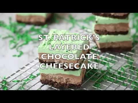 How to make: St. Patrick's Day Mint Chocolate Cheesecake Layered Bars