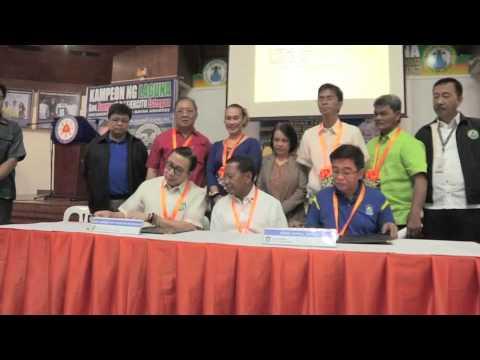 MOA signing with LGU of Laguna