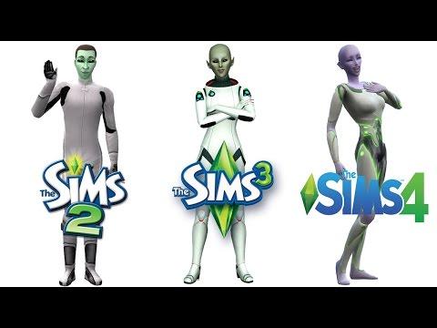 ♦ Sims 2 vs Sims 3 vs Sims 4: Aliens