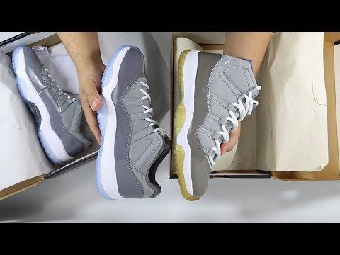 How Does the Air Jordan 11 XI Cool Grey Compare to the 2018 Cool Grey Low? | @mjo23dan