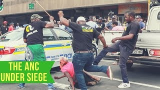 Clashes outside Luthuli House