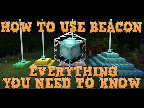How To Create/Use Beacons In Minecraft