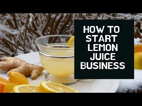 How To Start Lemon Juice Business   Small Business Idea