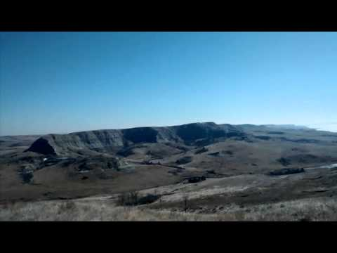 Oilfield job site Bakken North Dakota view.