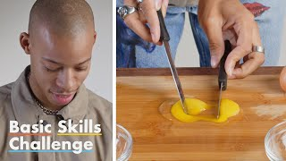 50 People Try to Separate An Egg | Basic Skills Challenge | Epicurious