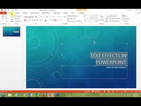 How To Underline Text In Microsoft PowerPoint 2013