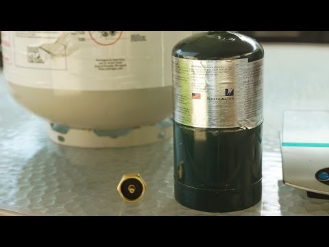 How to save money refilling 1 pound propane tanks at home