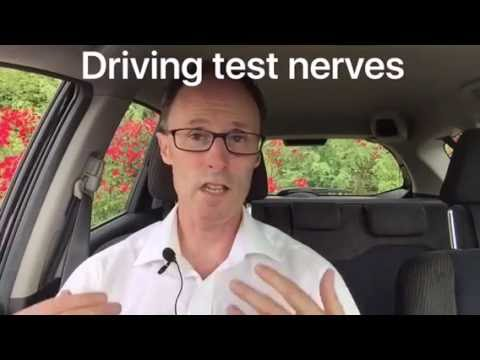 Advice on driving test nerves