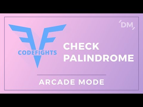 CodeFights Intro Algorithms - Check Palindrome