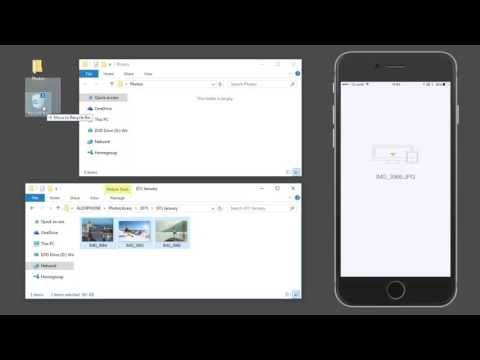 Photo Transfer for iPhone and iPad - WINDOWS File Explorer tutorial