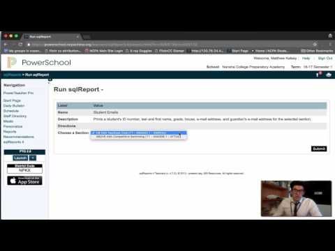 Getting a student e-mail list from PowerSchool