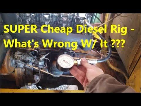 1979 Diesel Engine Running Awful - Diagnosing Engine Health (HUGE Fork Truck)