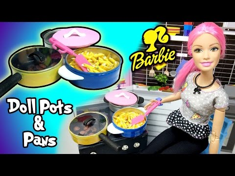 How To Make Cooking Pot And Pan for Barbie Doll - DIY Easy Doll Crafts - Making Kids Toys