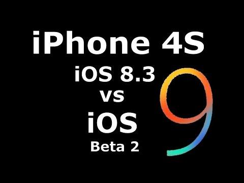 iOS 9 Beta 2 vs 8.3 on iPhone 4S