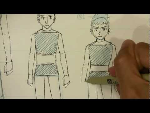 How To Draw Manga Male Body Proportions Teenager To Kid