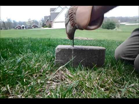 Cutting Concrete Landscape Block