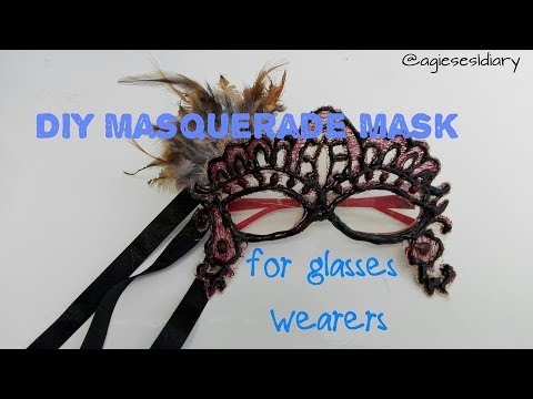 DIY Masquerade Mask for Glasses Wearers