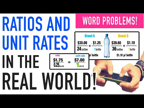 ☆ Apply Unit Rates and Ratios in the Real World   Common Core Math