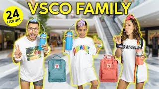 Becoming a VSCO FAMILY For 24 HOURS CHALLENGE!   The Royalty Family