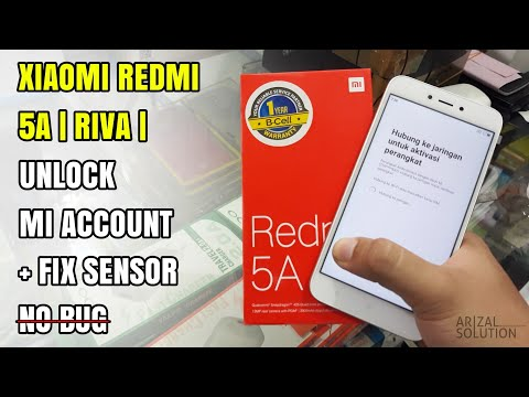 Xiaomi Redmi 5A Riva Unlock Remove Mi Account | Fix Sensor Update 2018