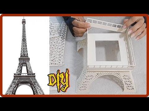 Aprenda fazer uma luminária de pvc Torre Eiffel video completo