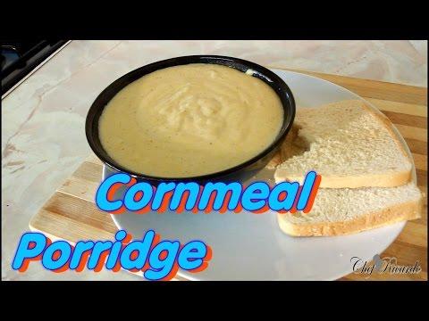 Rich Jamaican Coconut Milk Cornmeal Porridge Recipe | Recipes By Chef Ricardo