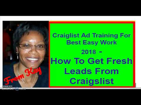 How To Get Fresh Leads From Craigslist 2018 - Best Easy Work Training
