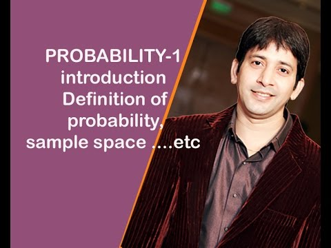 PROBABILITY-1 introduction ( Definition of probability,sample space ....etc)