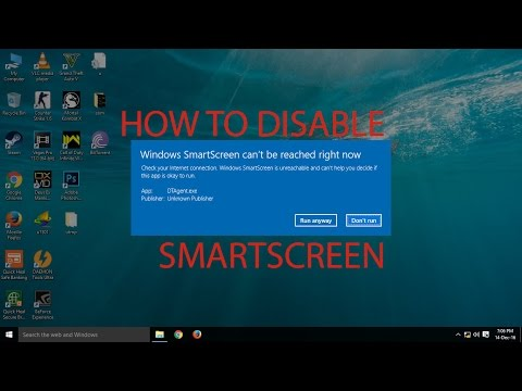 How To: Disable Smartscreen in Windows 10