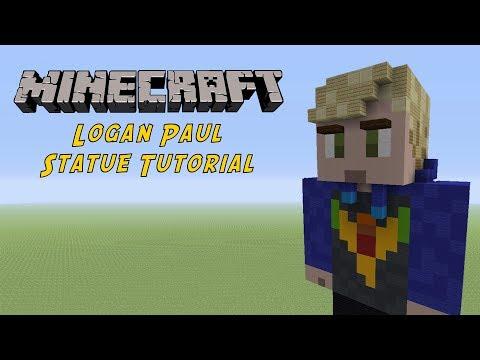 Minecraft Tutorial: Logan Paul Statue
