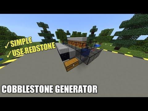 HOW TO MAKE COBBLESTONE GENERATOR IN MCPE 1.2   Minecraft PE