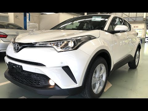 Toyota C-HR SUV 2018, urban crossover with an unusual design
