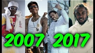 Most Popular Rap Songs Of The Last 10 Years 2007 2017